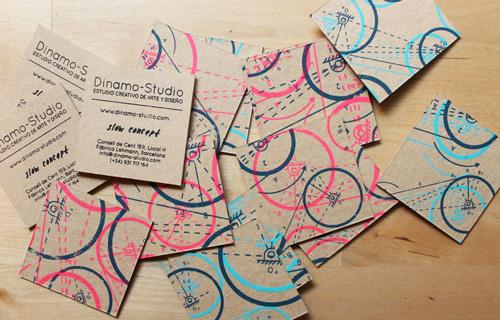 tarjetas presentación serigrafiadas